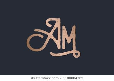 Am Ornamental Monogram Logo With Elegant Decorative Letter A And