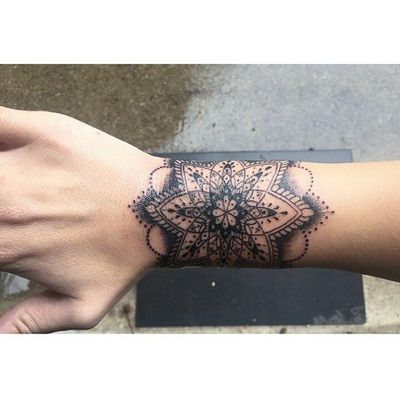 Mandala wrist tattoo by Andre Bernal at Death Before Dishonor in San Jose, CA. #detail