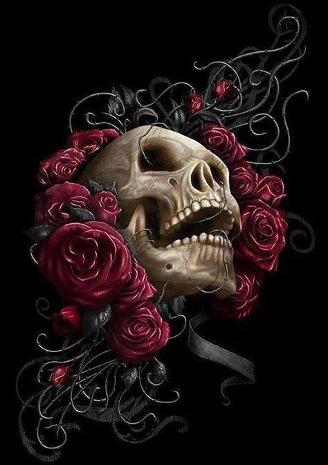 Rose And Skull Cross Stitch Chart Bn! (Roseandskull03)