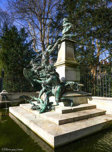 Fontaine Monument A Eugene Delacroix Jardin Du Luxembourg 75006