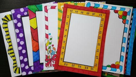 28 Compilation Of Beautiful And Easy Border Designs For Project File Borders For Paper Page Borders Design Border Design