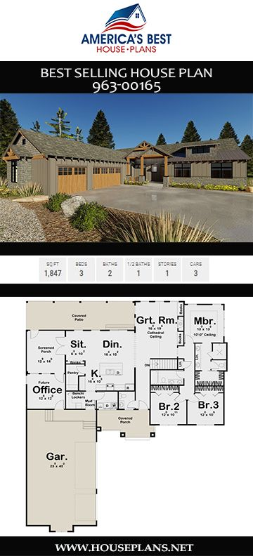 House Plan 963 00165 Mountain Plan 1 874 Square Feet 3 Bedrooms 2 5 Bathrooms Mountain House Plans House Plans New House Plans