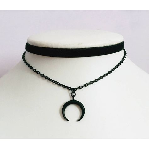 Moon Choker Black Gothic chain design # You are in the right place about christmas food Here we offer you the most beautiful pictures about the christmas merry you are looking for. When you examine the Moon Choker Black Gothic chain design # part of … Gothic Chokers, Gothic Jewelry, Gothic Necklaces, Jewelry Necklaces, Cross Necklaces, Men's Jewellery, Antique Jewellery, Jewelry Holder, Jewelry Box