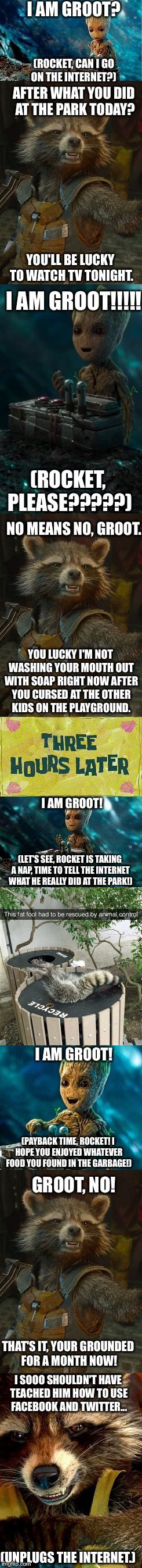 Groot's Internet Adventures