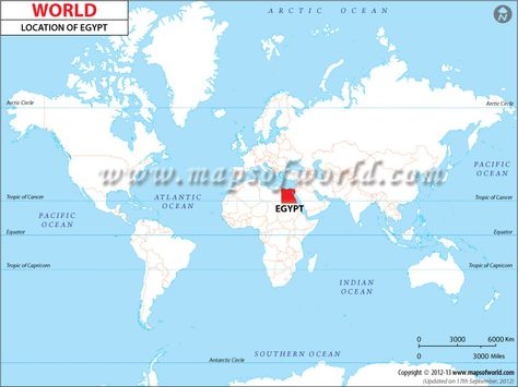 Where Is Egypt? | Location map, Country maps, World