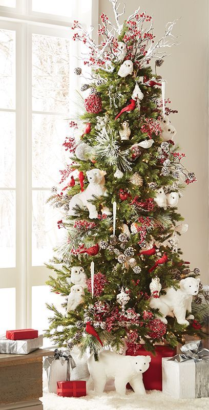 19 Classic Red Christmas Decorations That Are Timeless Woodland Christmas Tree Pre Decorated Christmas Tree Red Christmas Decor