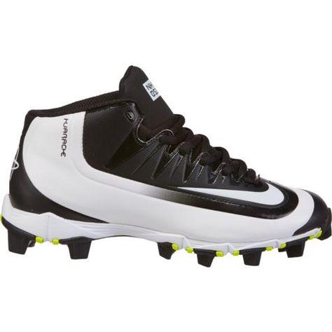 ebe15fade228 Nike Boys  Huarache 2KFilth Keystone Mid Baseball Cleats (Black White Volt