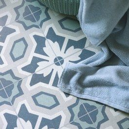 Floral Blue And Green Country Cottage Vinyl Flooring Kitchen Bathroom Vinyl Flooring Kitchen Vinyl Flooring Kitchen Flooring