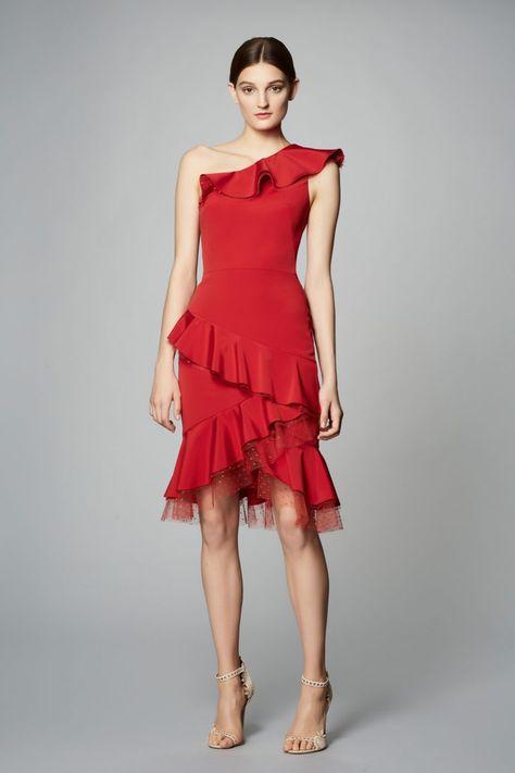 Reprodução Red Dress Vestido De Outono Idéias De Moda E