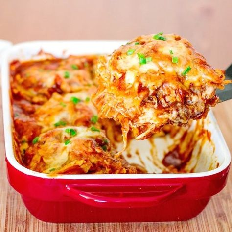 Ultra-Easy Chicken Enchilada Casserole | 23 Easy And Delicious Meals To Make This Summer