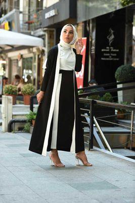 461 3 Parca Tesettur Takim Siyah Elizamoda Com 2020 Moda Stilleri Moda Hint Modasi