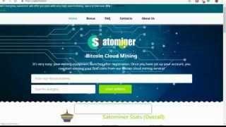 Satominer, Legit Free Bitcoin Cloud Mining Website   Earn Free 5000