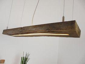 rustikale Hängeleuchte Balken Leuchte Holz | Altholz lampe