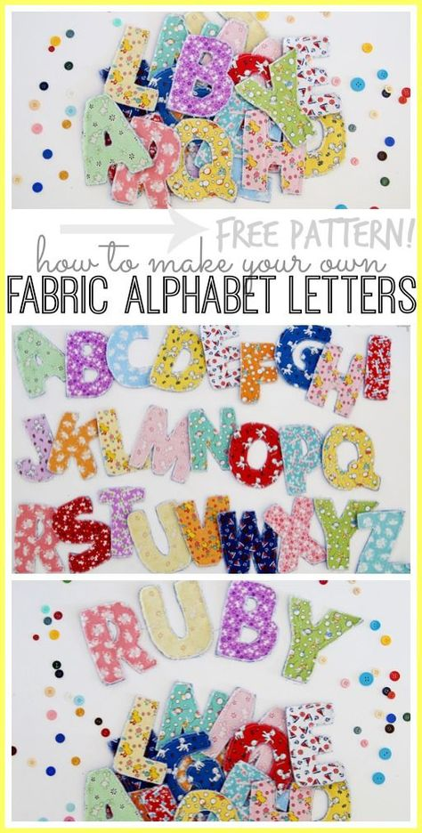 DIY Sewn Fabric Alphabet Letters | Pattern Template