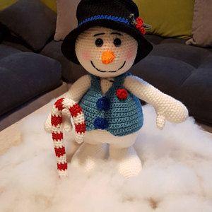 Frosty the Snowman Navidad Patrón De Ganchillo