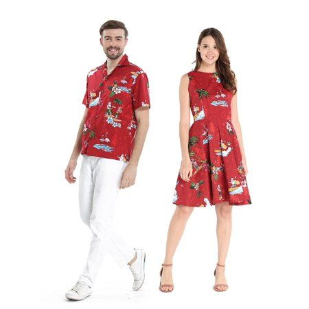 Christmas Cruises Around Hawaii 2020 Couple Matching Hawaiian Luau Cruise Outfit Shirt Vintage Dress