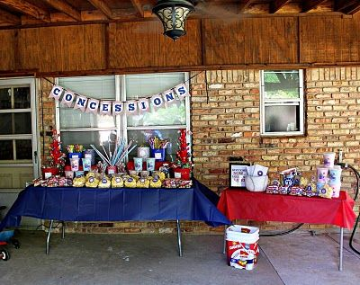 Cute Concession Stand Table By Valarie
