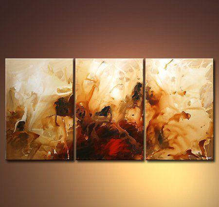 Fairyland - Pintura,  72x36 in ©2008 por Osnat Tzadok -                            Arte abstracto, abstract art, modern art, modern abstract paintings, contemporary art gallery
