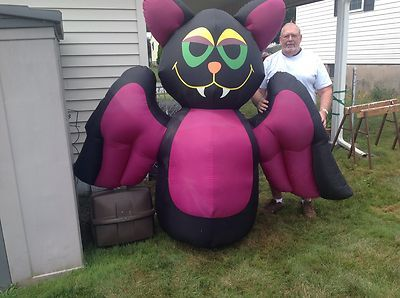 RARE 7' Tall Lighted VAMPIRE BAT Halloween Airblown Inflatable