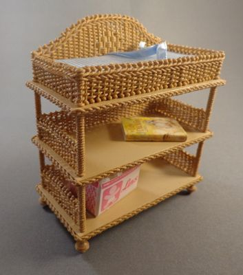 Marvelous Changing Table   $95.00 : Miniature Wicker Furniture By The Petticoat  Porch, Handcrafted Artisan Dollhouse Miniature Wicker Furniture | плетение  | Pinterest ...