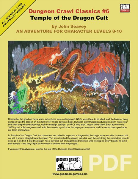 Dungeon Crawl Classics #6: Temple of the Dragon Cult – PDF