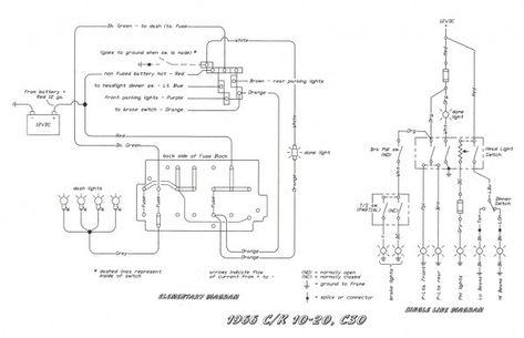 Headlight Switch Wiring Diagram Chevy Trucks Ford Trucks Light Switch Wiring