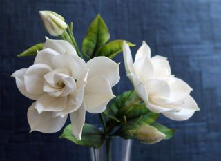 White Gardenia Faux Gardenia Bush Outdoor Faux Flowers With