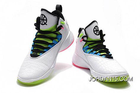 ffbfb4de73e3 Nike Jordan .Fly MVP Quai 54 Mens Basketball Shoes White Multi-Color Super  Deals  adidasbasketballshoes