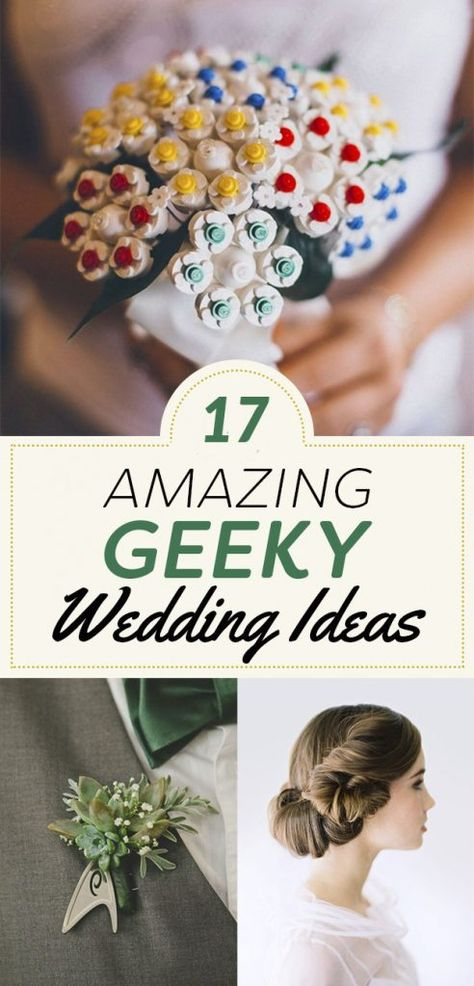 17 Nerdtastic Wedding Ideas You'll Majorly Geek Out Over, Carry the most stacked bouquet that money can buy. #weddingideas