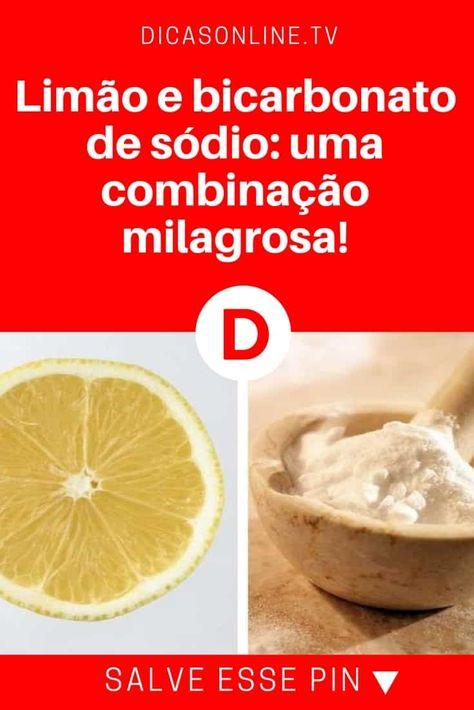 Faca Em Casa Remedio Natural De Bicarbonato De Sodio Com Limao