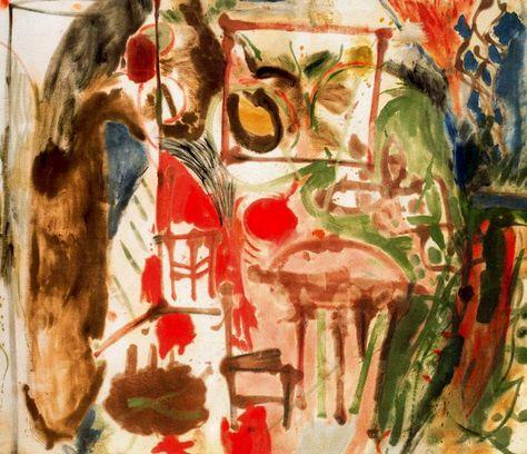 Interior. 1957 - Helen Frankenthaler - WikiArt.org