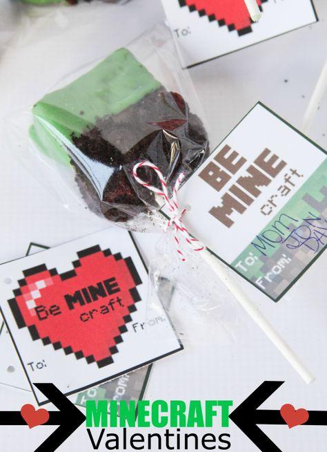 Minecraft Valentines  Treats (with Free Printables)