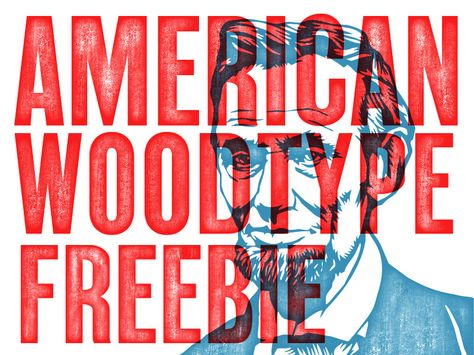 American Wood Type Freebie Font Types Screen Printing Inspiration Types Of Wood