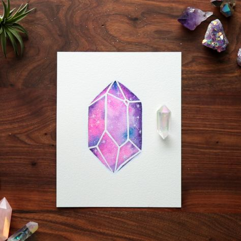 Crystal visions start with watercolors.