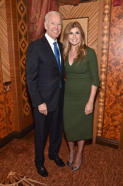 U.S. Vice President Joe Biden and actor Connie Britton attend the Biden Courage Awards Presented by It's On Us.