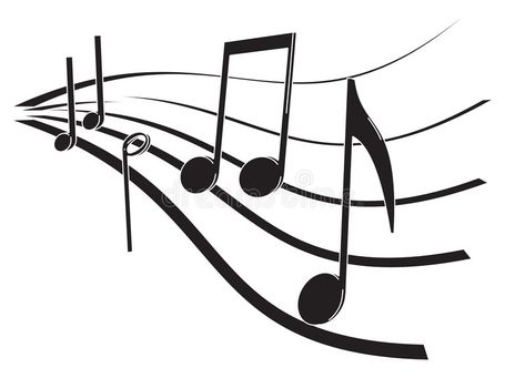 Music notes stock vector. Illustration of melody, part - 5444374
