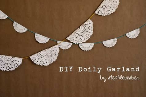 cute and effective doily #garland