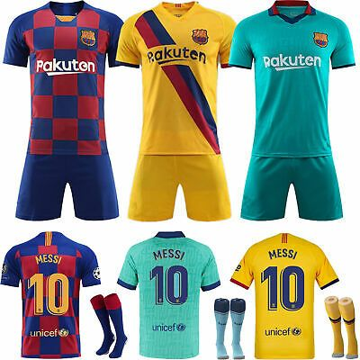 New 19//20 Children/'s Football Full Kit Youth Jersey Strips Soccer Sports Outfit