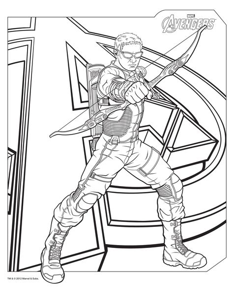 Avengers Character Thor Coloring Page - Download \ Print Online - copy avengers coloring pages online