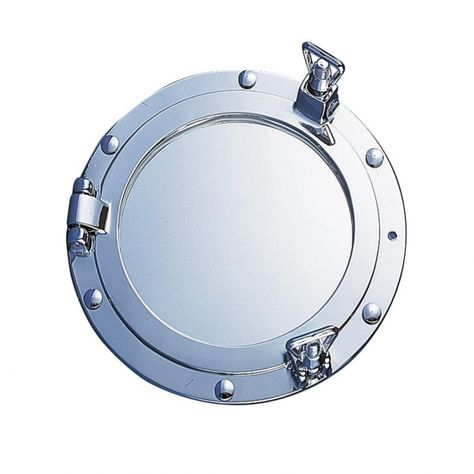 Patrijspoort spiegel verchroomd ø 30 cm