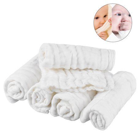 Pretty See Organic Cotton Baby Towels Soft Newborn Baby Face Towel Natural Baby Muslin Washcl
