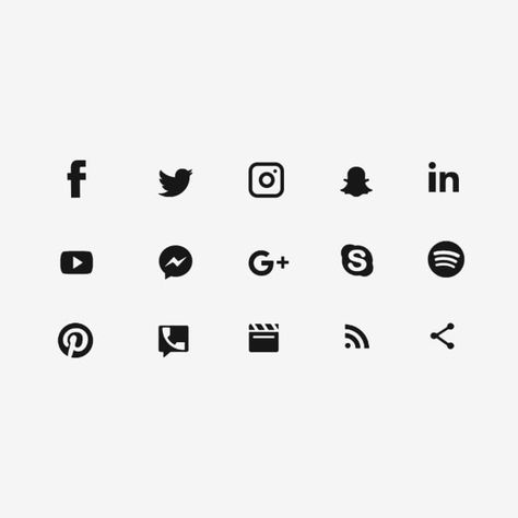 Black Social Media Icons, Social Media Icons, Social Media, Social Media Logo PNG Transparent Clipart Image and PSD File for Free Download