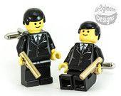 James Bond 007 Goldeneye Tie Tack :) made with LEGO bricks. $14.99, via Etsy.