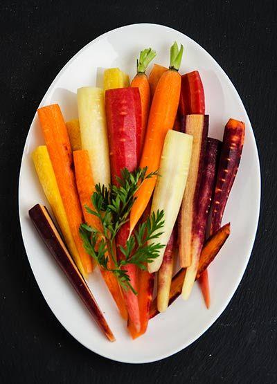 Rezept mit Bild für Geröstete Honig-Karotten mit Joghurt - foolforfood.de