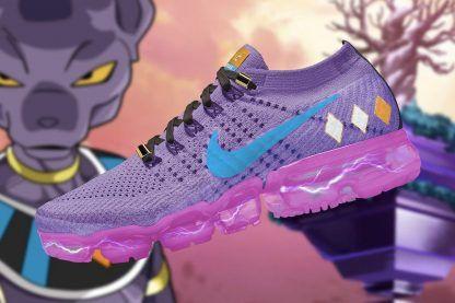 Girls Nike Air VaporMax X Dragon Ball Beerus Purple in 2020