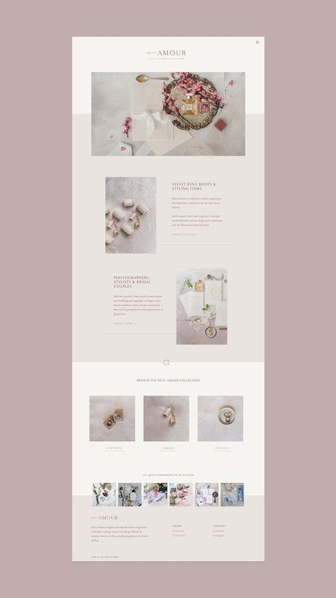Petit Amour — Brand Identity + Website Design by Cultivate Studio