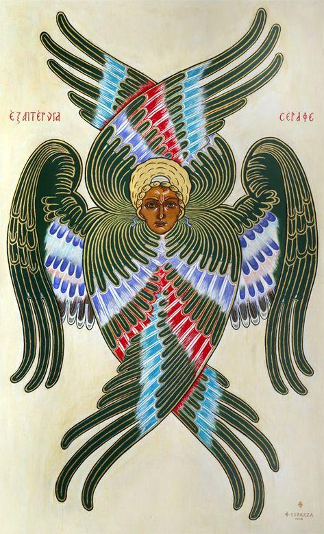 Spiritual Beings – Art in Faith Byzantine Icons, Byzantine Art, Tatoo Angel, Russian Folk Art, Occult Art, Christian Symbols, Angels And Demons, Orthodox Icons, Medieval Art