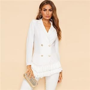 NEW LADIES WOMENS  LONGLINE BLAZER JACKET CARDIGAN DRESS TOP