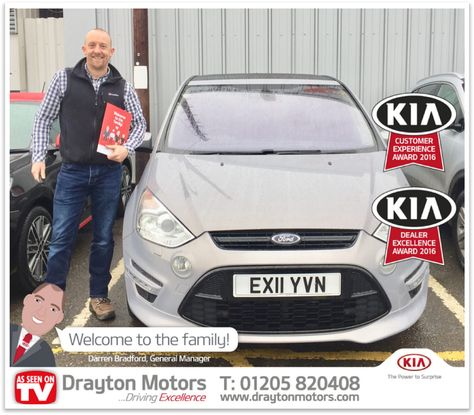 Here We Have Mr Carl Jones Collecting His Ford S Max From Richard