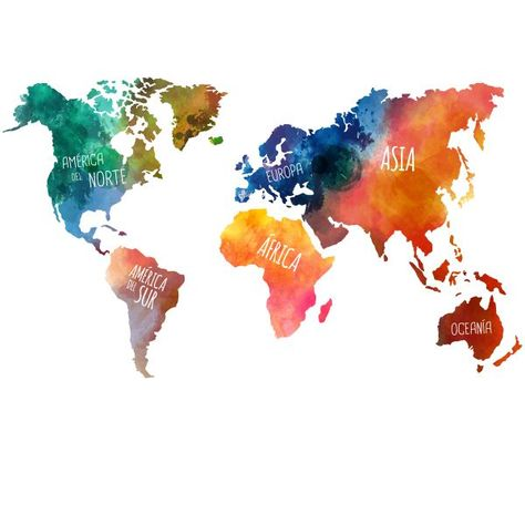 wall sticker world map continents -  Farben Blog - #continents #Map #Sticker #Wall #world